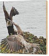 Flying Lesson Wood Print