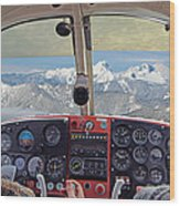 Flying Over North Cascades Wood Print