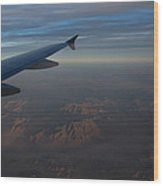 Flying Over The Mojave Desert At Dawn Wood Print