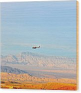 Flying Over Valley Of Fire Wood Print