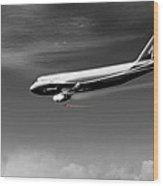 Flying Safe - Boeing 747 Wood Print