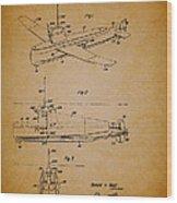 Flying Submarine Patent Wood Print