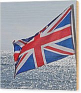 Flying The British Flag Wood Print