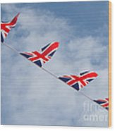 Flying The Union Jack Wood Print
