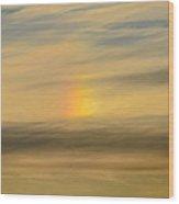 Flying Through The Rainbow Wood Print
