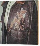 Flying Tiger Jacket Art Wood Print