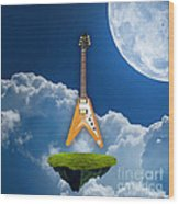 Flying V Guitar Wood Print