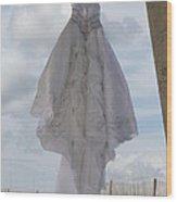 Flying Wedding Dress 4 Wood Print