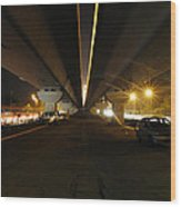 Flyover And A Car Wood Print