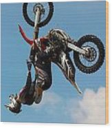 Fmx Backflip Wood Print