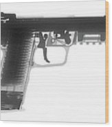 Fn 57 Hand Gun X-ray Photograph Wood Print