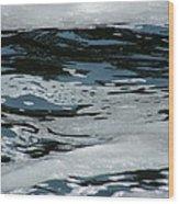 Foam On Water Wood Print