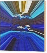 Focus On Blue Wood Print