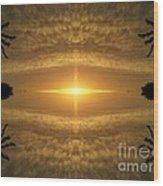 Focus On His Light Wood Print