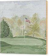Focus On The Flag Wood Print