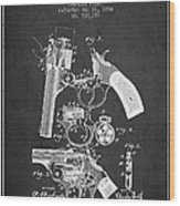 Foehl Revolver Patent Drawing From 1894 - Dark Wood Print