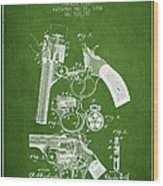 Foehl Revolver Patent Drawing From 1894 - Green Wood Print