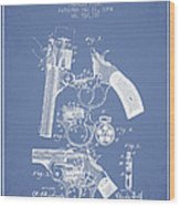 Foehl Revolver Patent Drawing From 1894 - Light Blue Wood Print