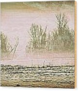 Fog Abstract 1 Wood Print by Marty Koch