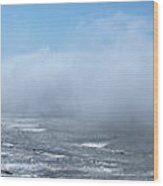 Fog Advances On The Oregon Coast Wood Print