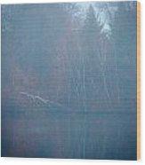 Fog And Fall Wood Print