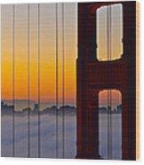 Fog City Wood Print