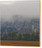Fog On The Bluffs Wood Print