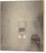 Fog On The Road To Walsenburg Wood Print