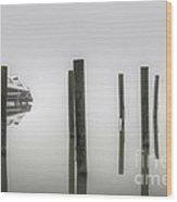 Fog On The Wando River Wood Print