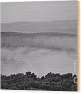 Fog Over Montague Wood Print