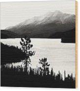 Fog Over The Mountain Wood Print