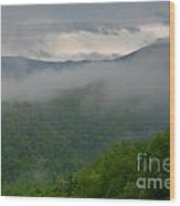 Fog Over The Smokies Wood Print