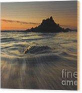Fogarty Creek Sunset Wood Print