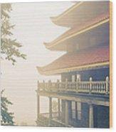 Foggy At The Reading Pagoda Wood Print