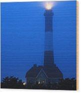 Foggy Beacon Wood Print
