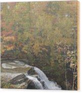 Foggy Brandywine Falls Wood Print