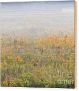 Foggy Country Autumn Morning Wood Print