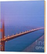 Foggy Golden Gate Bridge Wood Print