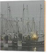 Foggy Harbor-1 Wood Print