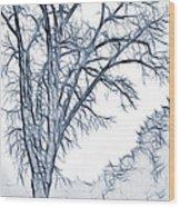 Foggy Morning Landscape - Fractalius 2 Wood Print