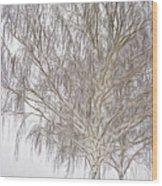 Foggy Morning Landscape - Fractalius 4 Wood Print by Steve Ohlsen