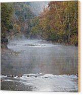 Foggy Morning On The Buffalo Wood Print