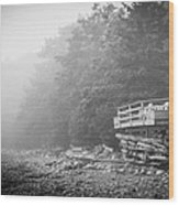 Foggy Morning Overlook Wood Print