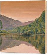 Foggy Morning Sunrise Along Buffalo River Wood Print by Bill Tiepelman