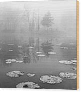 Foggy Morning Wood Print by Wendell Thompson