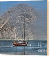 Foggy Morrow Bay Wood Print