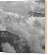 Sky And Earth Wood Print