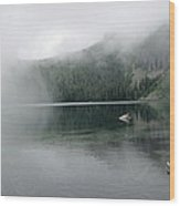 Foggy Mowich Lake Wood Print