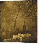 Foggy Necropolis Wood Print