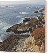 Foggy Pacific Coast  Wood Print